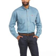 Ariat FR 10035433 Steel Blue Vented Work Shirt