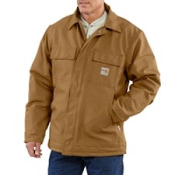 Carhartt 101618BRN Flame Resistant Quilt Lined Traditional Duck Coat