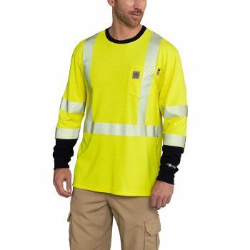 Carhartt 102905 FR Hi Vis Class 3 Long Sleeve T-Shirt