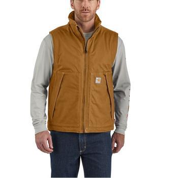 Carhartt 103387 Flame Resistant Quick Duck Brown Vest