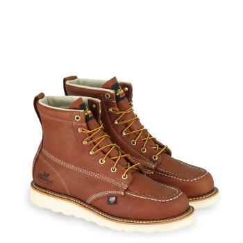 """Thorogood 804-4200 Steel Toe Moc Toe 6"""" Wedge Sole Work Boot"""