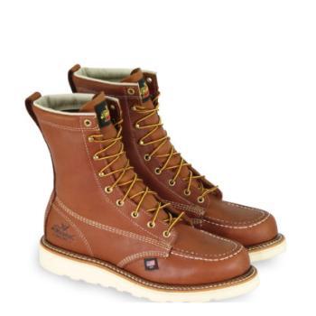 """Thorogood 804-4208 8"""" Steel Toe Moc Toe Wedge Sole Work Boot"""