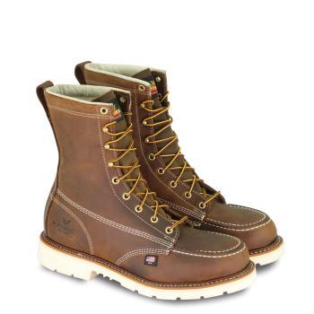 "Thorogood 804-4378 8"" Steel Toe Moc Toe Defined Heel Work Boot"