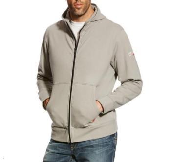 Ariat 10023977 Flame Resistant Full Zip Hooded Sweatshirt - Silver Fox