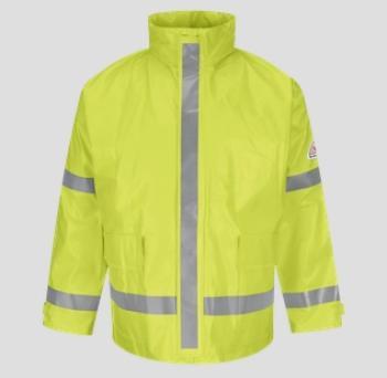 Bulwark JXN6YE Flame Resistant High-Viz Rain Jacket