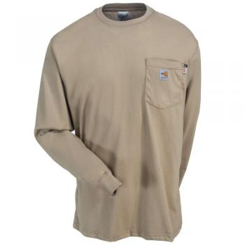 Carhartt 100235-250 Flame Resistant Long-Sleeve Shirt - Khaki