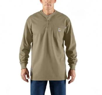 Carhartt 100237-250 Flame Resistant Long Sleeve Henley