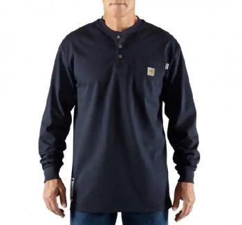 Carhartt 100237-410 Flame Resistant Long Sleeve Henley