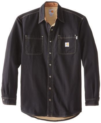 Carhartt 100432BLK Flame Resistant Canvas Shirt Jac
