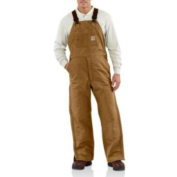 Carhartt 101626 Flame Resistant Quilt Lined Duck Bib Overalls