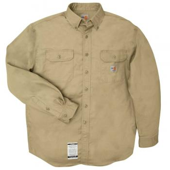 Carhartt FRS160KHI Flame Resistant Twill Button Shirt