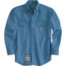 Carhartt FRS160MBL Flame Resistant Twill Button Shirt