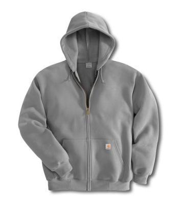 Carhartt K122HGY Midweight Hooded Zip-Front Sweatshirt