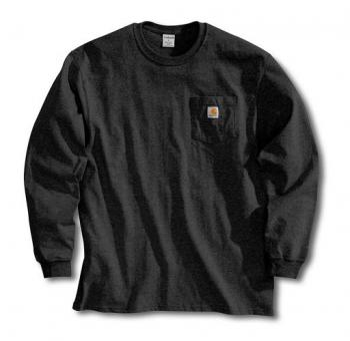 Carhartt K126BLK Black Long Sleeve Workwear T-Shirt