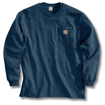 Carhartt K126NVY Navy Long Sleeve Workwear T-Shirt