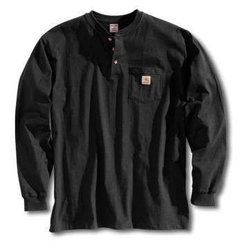 Carhartt K128BLK Black Long Sleeve Workwear Henley