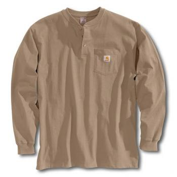 Carhartt K128DES Desert Tan Long Sleeve Workwear Henley
