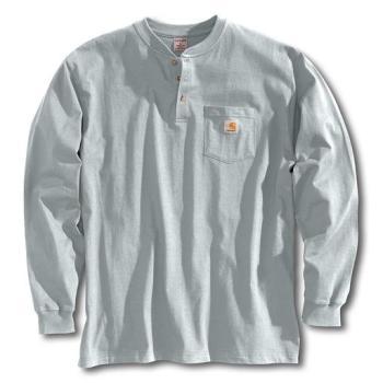 Carhartt K128HGY Grey Long Sleeve Workwear Henley