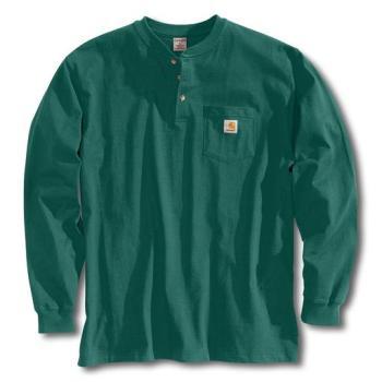 Carhartt K128HTG Hunter Green Long Sleeve Workwear Henley