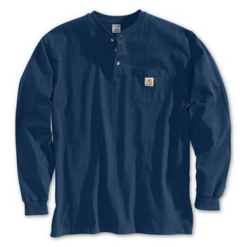 Carhartt K128NVY Navy Long Sleeve Workwear Henley