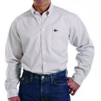 Cinch MLW3001002 FR Red & Blue Plaid Button Shirt