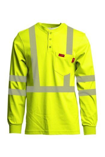 Lapco FR Hi Vis FRT-HJE-HV3 Long Sleeve Henley Shirt