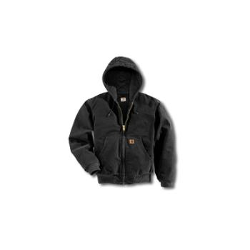 Carhartt J130BLK Sandstone Active Jac - Quilted Flannel Lined