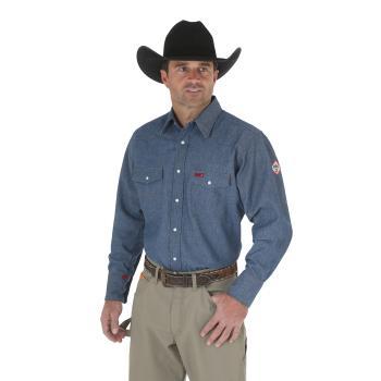 Wrangler FR12127 Flame Resistant Long Sleeve Denim Work Shirt