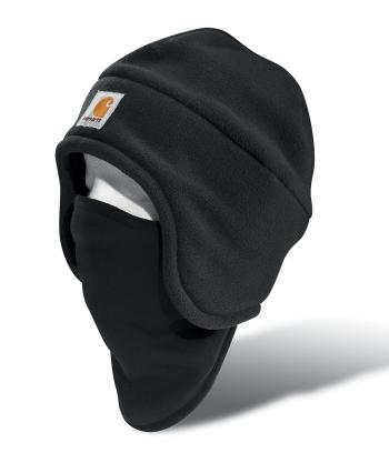 Carhartt A202BLK Black Fleece 2-in-1 Headwear