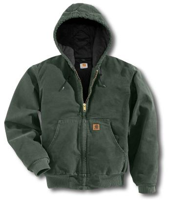 Carhartt J130MOS Sandstone Active Jac - Quilted Flannel Lined