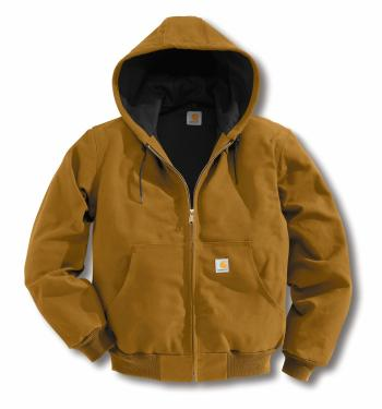 Carhartt J131BRN Duck Active Jac - Thermal Lined