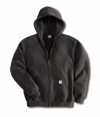 Carhartt K122BLK Midweight Hooded Zip-Front Sweatshirt