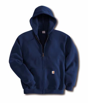 Carhartt K122NVY Midweight Hooded Zip-Front Sweatshirt