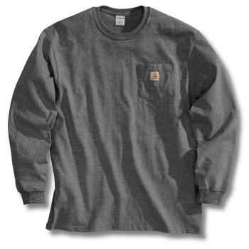 Carhartt K126CHR Charcoal Colored Long Sleeve Workwear T-Shirt