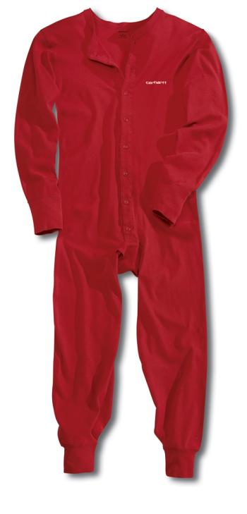 Carhartt K226RED Midweight Cotton Union Suit