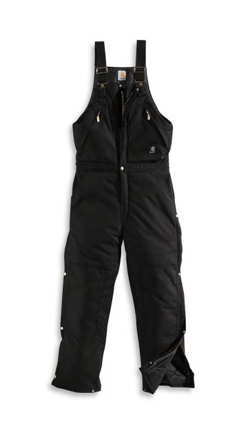 Carhartt R33BLK Extremes Arctic Zip-to-Waist Biberall - Quilt Lined